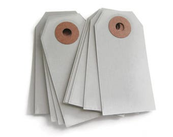 """SALE ~ Small Gray Parcel Tags 25 Count 