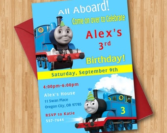 thomas train birthday invitation thomas the train invitation thomas train birthday party invitations - Thomas The Train Party Invitations