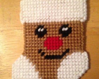 Plastic canvas Gift Card Holder Gingerbread Man, needlepoint item, stocking stuffer, Christmas gift, cardholder, perfect gift