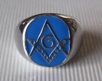 Stainless Steel Masonic Ring