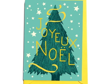 Carte de Noël avec illustration Sapin