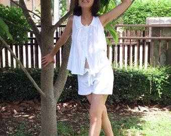 SP0030 White Beach Summer Fashion Chic Clothing CUTE Short Pants