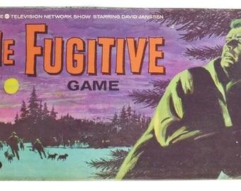 Vintage 60s The Fugitive TV Show Complete Board Game