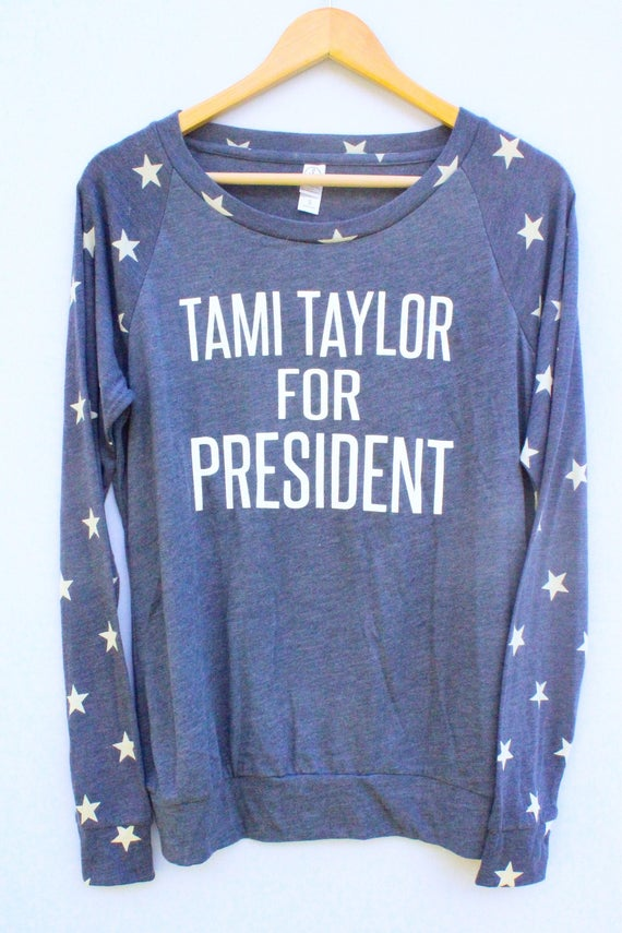 Tami Taylor for President Star Print Pullover