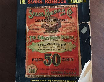 Vintage Reproduction 1902 Sears Catalog Sears Roebuck and Company Replica Catalogue No. 111 - Copyright 1969