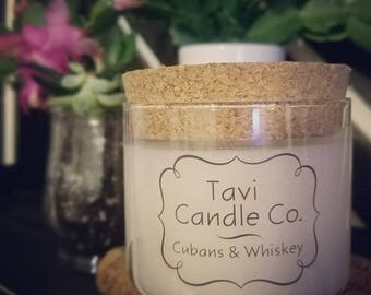 Cubans & Whiskey Scented Soy Wax Candle