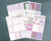 Erin Condren Planner Stickers / Purple Christmas / Erin Condren Planner Stickers / Weekly Kit / WK-33