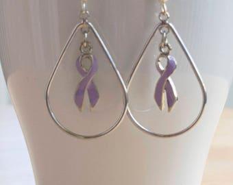 Testicular Cancer Awareness Hope Drop Earrings