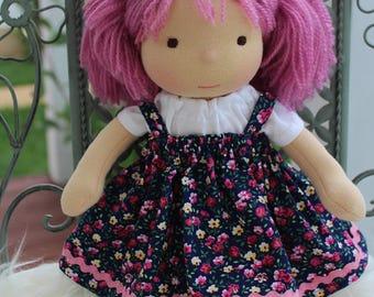 """Waldorf doll, 12"""" tall doll steiner doll, organic doll,fabric doll, cloth doll, handmade"""