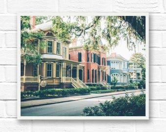 Savannah Georgia, fine art photography, Savannah photography wall art, rustic print, southern decor, architecture, historic Savannah GA