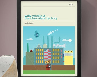 Willy Wonka and the Chocolate Factory Movie Poster - Movie Poster, Movie Print, Film Poster, Film Poster