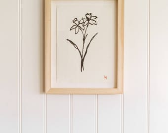 Daffodil PRINT | Wall art | Gifts for Her | Interior gift guide