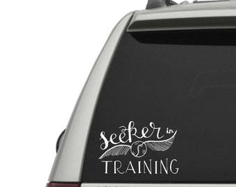 Seeker in Training Vinyl Decal - Seeker Decal - Window Decals + Laptop Decals - High Quality Geeky Vinyl Decals