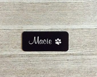 "Metal plaque, pet name plate, outdoor metal plaque, Metal Name Plate, name plates, name tags, 4x2"", metal plaque, metal tag, engraved, perso"
