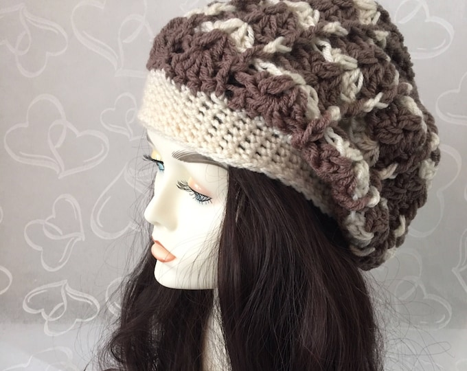 Slouchy Hat-Crocheted Newsboy Hat-Womens Hats-Mens Accessories -Fall Hats-Winter Hats