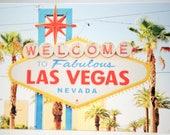 Las Vegas Card, Vegas Sign, Greetings Card, Blank Card, American Card