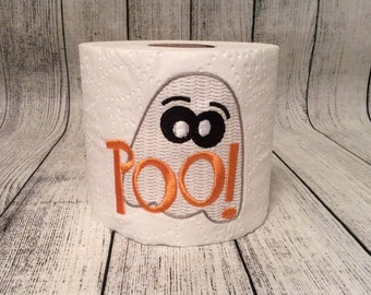 Halloween Decoration -Embroidered Halloween Toilet Paper -Halloween Party gag Gift -Halloween birthday gift -Potty Humor -Funny Gift