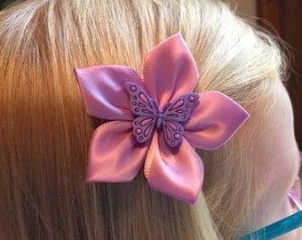 Butterfly Hair Clip/ Hair Bow, Kanzashi