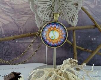 Yin Yang Flower Pendant