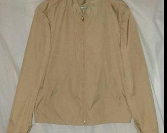 Vintage Khaki USN Official Uniform Creighton US Navy Windbreaker Jacket Size 42