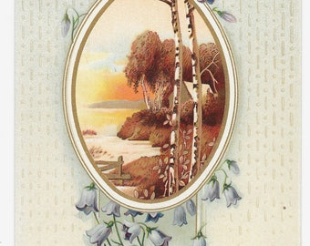 Victorian Love Thinketh No Evil Card, c. 1880
