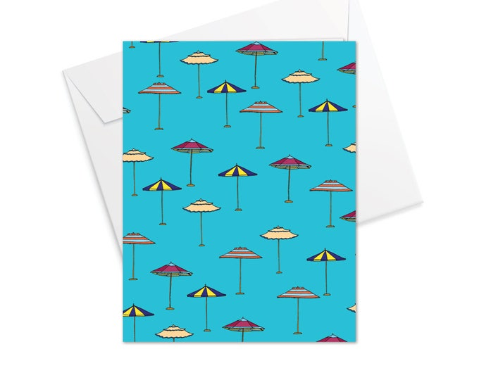 Sun-brella Fold Over Note Cards