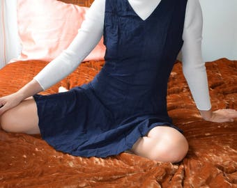 90's Navy Mini Dress