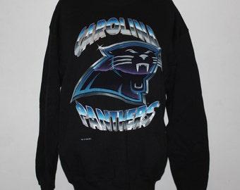 Vintage Carolina Panthers NFL Crewneck Sweatshirt L