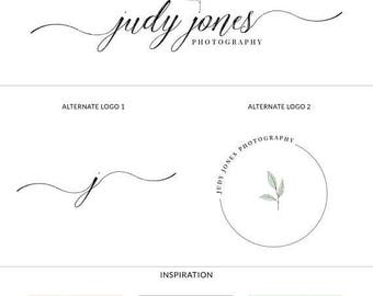 ON SALE Premade Logo. Branding Kit. Photography Logo. Modern Calligraphy Logo. Logo Set. Stamp. Watermark Logo. Signature Logo - s122