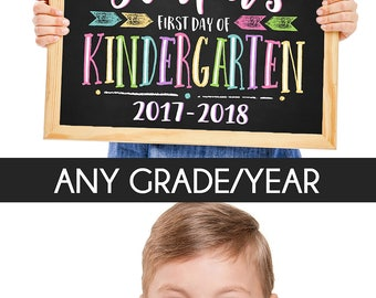 First Day of School Sign, Printable Back To School Sign, First Day of School Chalkboard Sign, Kindergarten Sign, Chalkboard Sign, First Day,