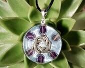 Fluorite Orgone Pendant- Dolphins -  Healing Crystals, Lightworker Jewellery, Energy Pendant, Spiritual Gift - Medium