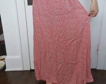 90's Floral Maxi Skirt