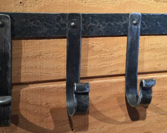 Wrought Iron 4 Hook Utensil Rack