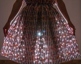 Midi skirt, skirt, summer skirt, linen skirt, boho skirt, colorful skirt, skirt cotton, gypsy skirt, skirt with floral print, custom, mini