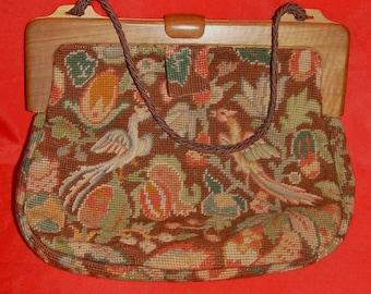 1970s tapestry handbag handmade....beautiful!