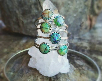 Opal Stackable Rings, Opal Ring, Opal Jewelry, Boho Ring, Boho Jewelry, Sterling Silver, Sterling Opal Ring, Monarch Opal, Opal