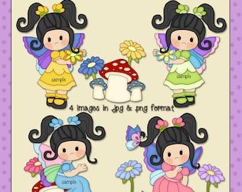 Butterfly Girls Black Hair