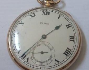 1919 Elgin pocket watch, size 12 (12s03)