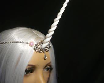Rosefairy Unicorn - Tiara with handsculpted pearlescent horn