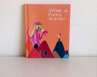 """Vintage 1989 Children's Textbook: """"What a Funny Animal!"""", Imagination An Odyssey Through Language Series (Book 6)"""