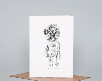 Thank You Spaniel Greeting Card