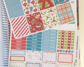 Christmas Planner Stickers   Christmas Critters   Fits Erin Condren Life Planner   Fits Happy Planner   Raccoon Fox Stickers