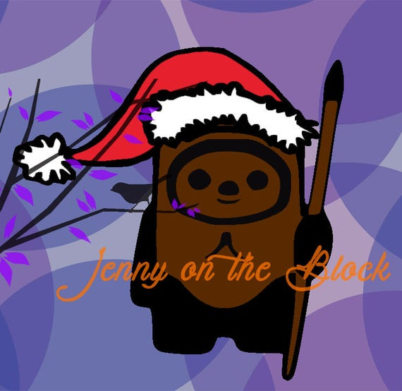 star wars christmas ewok svg  png  pdf  jpeg files for cricut