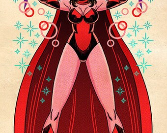 Scarlet Witch, Color, 11 x 17 Print by Darryl Young