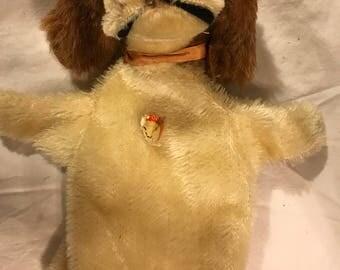 Vintage Steiff dog hand puppet