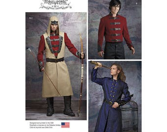 8235, Simplilciy, Men, Assassin's Creed, Archer, Military, Civil War, Vintage Style, Reenactment, Frock Coat, Civil War Soldier, Cosplay