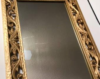 Vintage Syroco mirror - unique details!