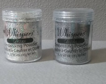 Whispers Glitter Embossing Powder Bundle of 2
