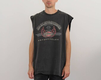 Harley Davidson 90s Sleeveless Tee Shirt Mens Large