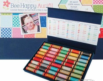 Aurifil 50wt /80wt Thread Collection - Bee Happy by Lori Holt - LH5080BB45 - 45 spools